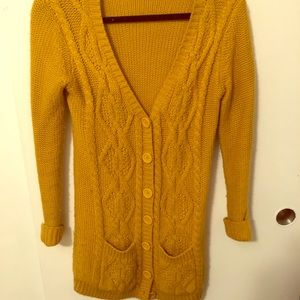 Forever 21 mustard sweater